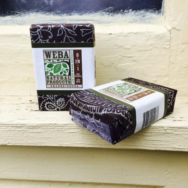 Cocoa bar soap 3 in 1 with orange oil cruelty free