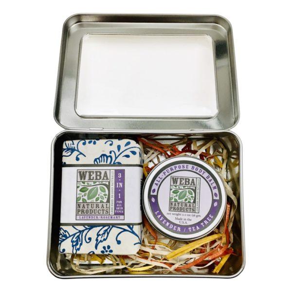WEBA Natural Products Gift Tin