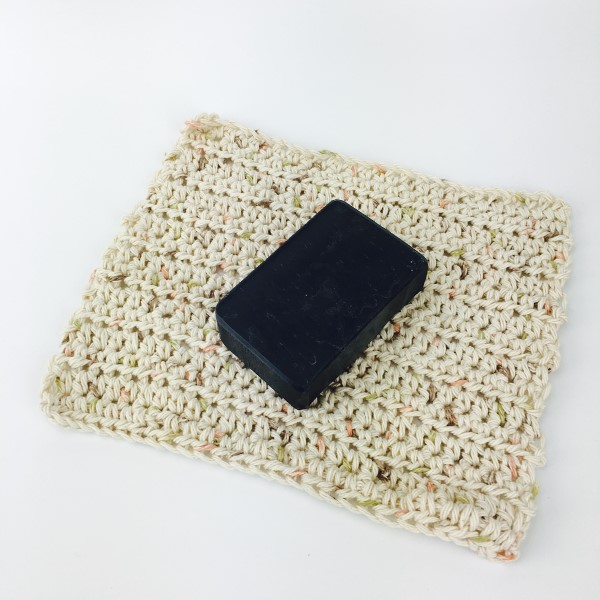 Handmade cotton washcloth single crocheted