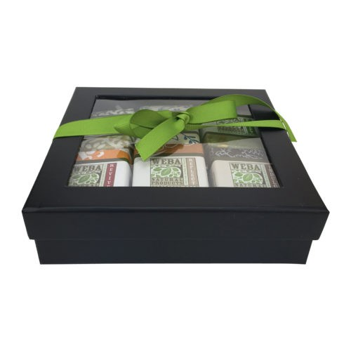 black gift box six soap gift set