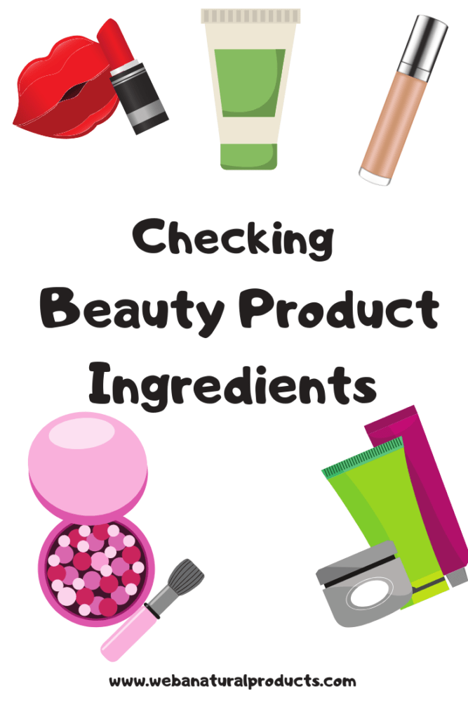 Beauty product ingredients Pinterest graphic