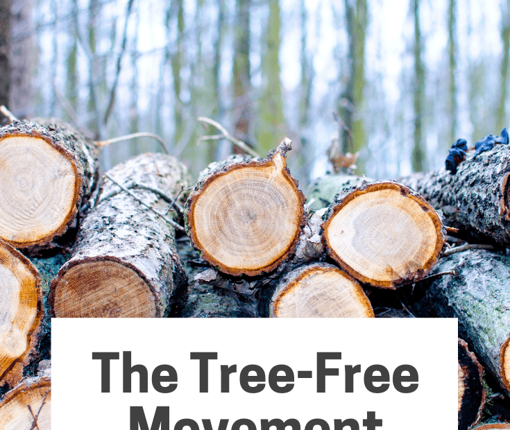 The Tree Free Movement Pinterest graphic