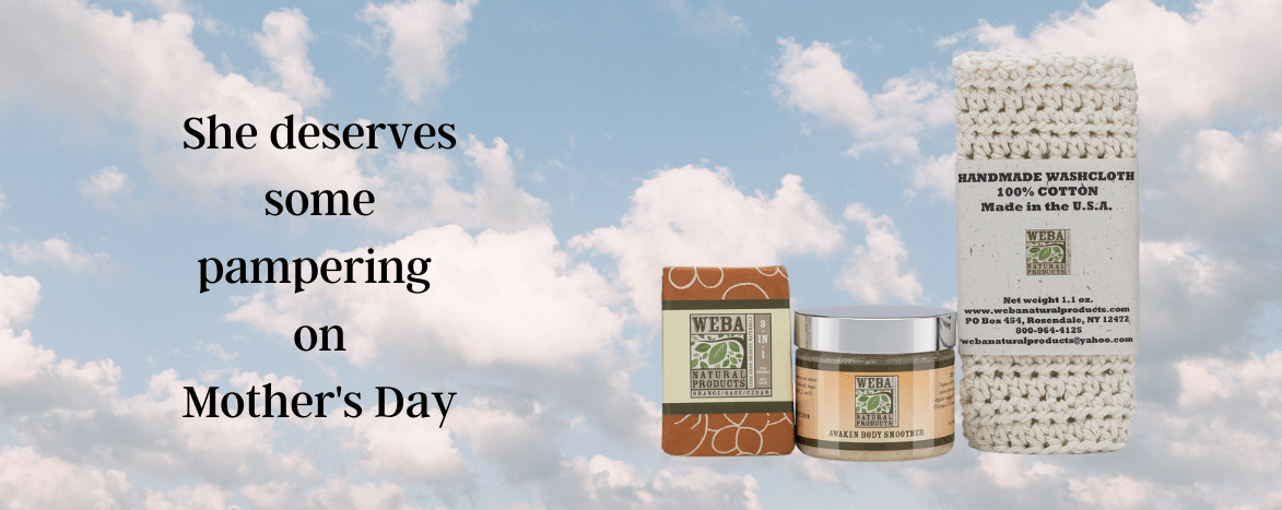 Home page banner with Mothers Day theme