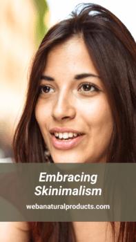 Embracing skinimalism pinterest graphic blog post