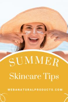 Summer skincare tips Pinterest
